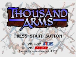 Screenshot Thumbnail / Media File 1 for Thousand Arms [2Discs] [U]